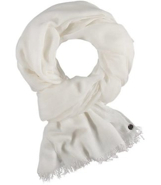 Fraas Essential Lightweight Solid Colour Wrap / Scarf - White **