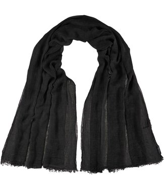 Fraas Essential Lightweight Solid Colour Wrap / Scarf - Charcoal **