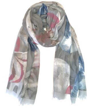 Pink and Blue Seashells Scarf **
