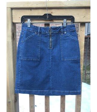 Point Zero Denim Skirt - Patch Pocket