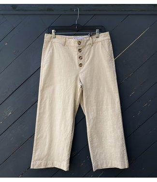 Point Zero Wide Leg Culotte - Button Fly