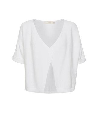 Cream Sillar Knit Bolero - White