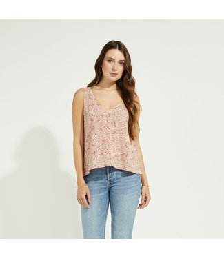 Gentle Fawn Flared V-neck Tank - Rust Snake