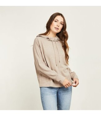 Gentle Fawn Hooded Lounge Top - Heather Brown
