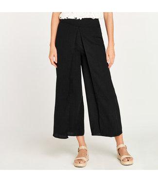 Apricot Linen Look Pants - Black