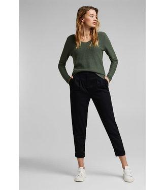 Esprit Long Sleeve V-Neck Sweater - Sage Green