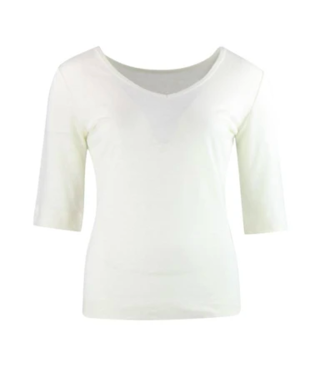 Zilch Reversible Linen Top - Off White
