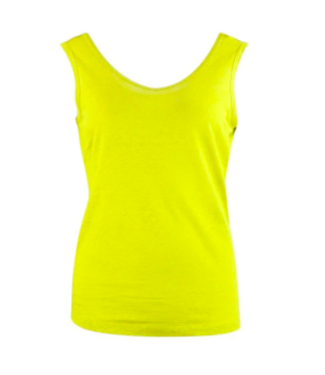 Zilch Linen Tank Top - Lime