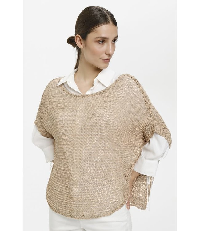 Cream Knitted Pullover - Sesame