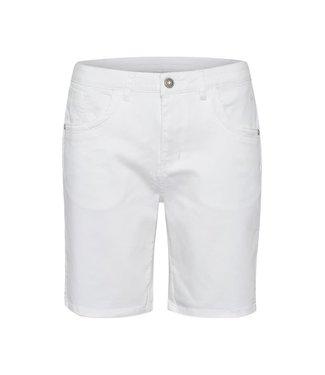 Cream Coco Fit Shorts - White