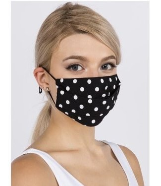 Face Mask - Polka Dot - Black