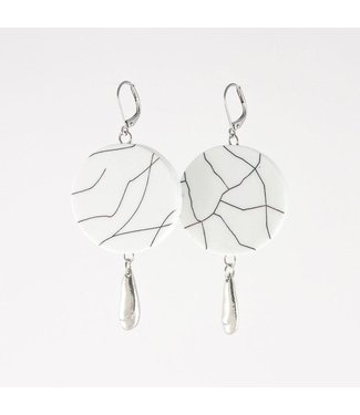 Anne Marie Chagnon Anne Marie Chagnon Earings - Sharon White with Silver Drop