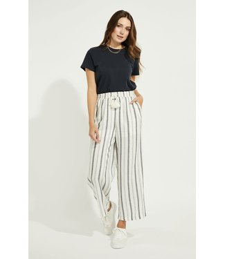 Gentle Fawn Tate Linen Pants - White/Navy