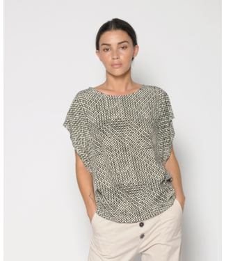 PAN Blouse with Geometric Pattern