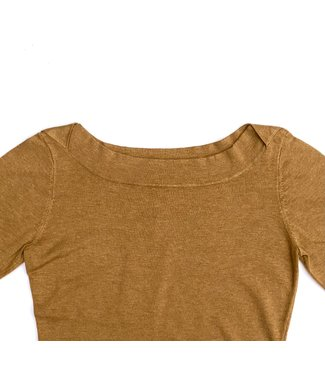 Zilch Sweater Boat Neck - Rust