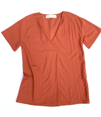 PAN Coral V-Neck Top