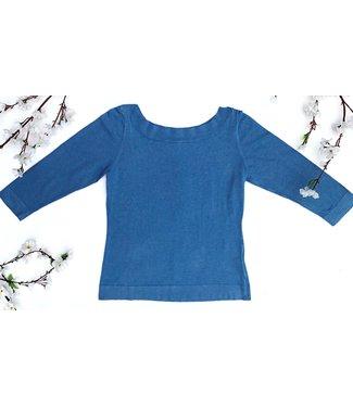 Zilch Sweater Boat Neck - Sky Blue