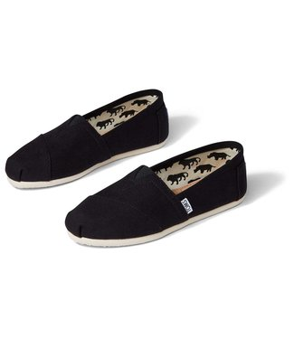 Toms Black Classic with White Sole
