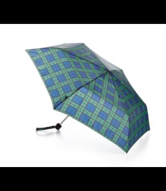 Fulton Umbrella - Green/Navy Plaid