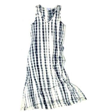 Point Zero Tie Dye Long Dress - Black/White