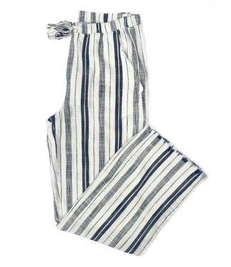 Point Zero Tie Pants - Navy Stripes