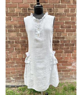 Angela Mara Light Grey Dress With Pockets **