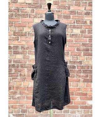 Angela Mara Black Dress With Pockets  **