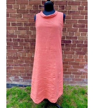 Linen Dress - Coral **
