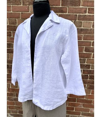 Linen Open Jacket **