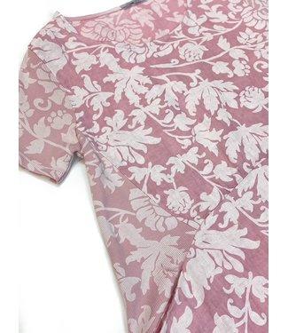 Angela Mara Tone on Tone Pocket Dress - Rose