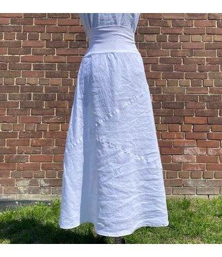 Click Asymmetric Skirt - White **