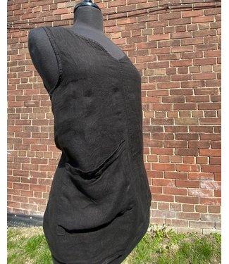 Angela Mara Angela Mara Top Black w Pocket **