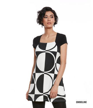 Luc Fontaine Ombeline Tunic - Black and White