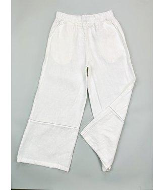 PAN Wide Leg Capri - White