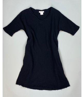 Mododoc Elbow Sleeve Black Dress