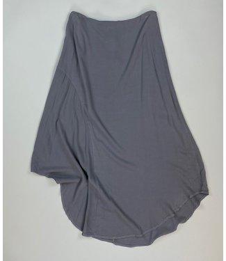 Mododoc Asymmetric Draped Skirt - Grey