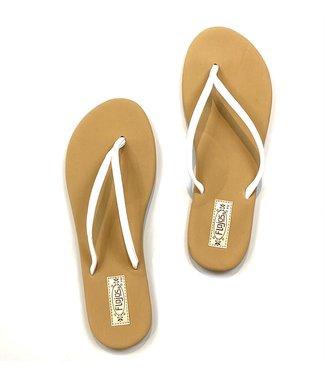 Fiesta Flip Flops - White