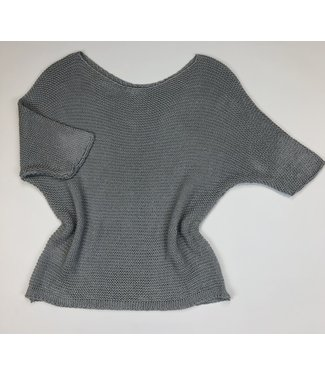 M Made in Italy Loose Knit Top - Grey
