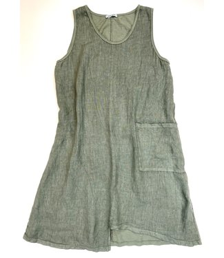 Angela Mara Sleeveless Dress - Khaki