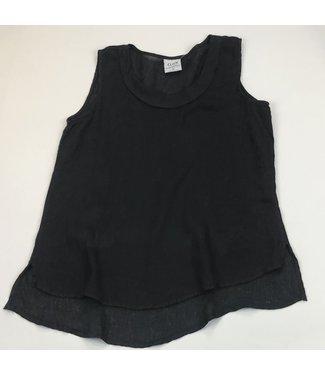 Click Short Cowl Collar Tank - Black