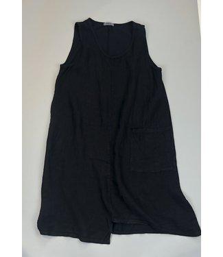 Angela Mara Sleeveless Dress - Black