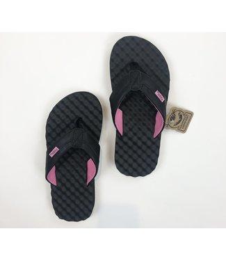 Blair Flip Flops - Black/Pink