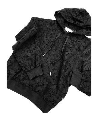 Molly Bracken Lace Sweatshirt - Black