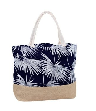Tote with Tropical Print