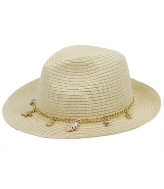 Fedora - Natural with Nautical Charms