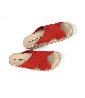 David Tyler Betty Espadrille Sandals - Rosso