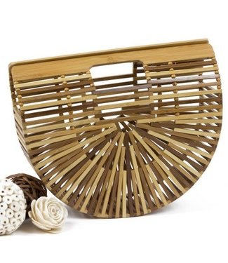 Multicolour Bamboo Ark Basket Bag