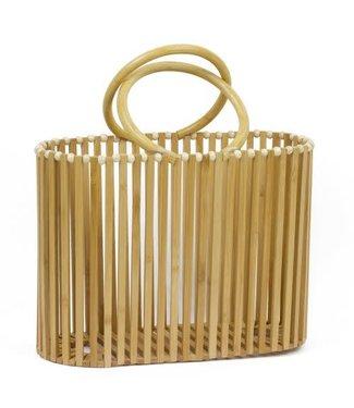 Bamboo Satchel Handbag
