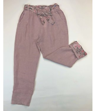 Pure Venice Linen Pants - Pink