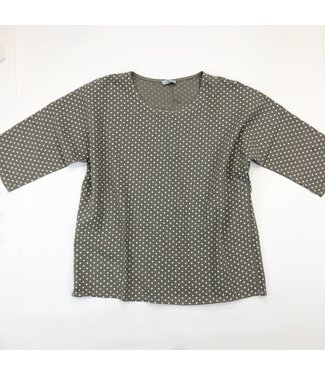 Pure Venice Linen 3/4 Sleeve Blouse- Taupe